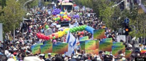 Pride parade in Israel. According to some reports, gay Orthodox Jews see growing acceptance in Israel